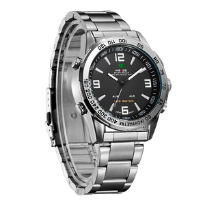 Image 5 - New Watches Men Luxury Brand Weide Full Steel Quartz Clock Led Digital Military  Watch Sport Wristwatch Relogio Masculino