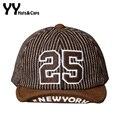 Novo boné de Beisebol de Inverno para o Bebê Lã strpled Snapback Tampas de Outono NO. 25 Chapéus Menino Chapéu Morno Nova Iorque Osso Gorra 5 Cores YY6056