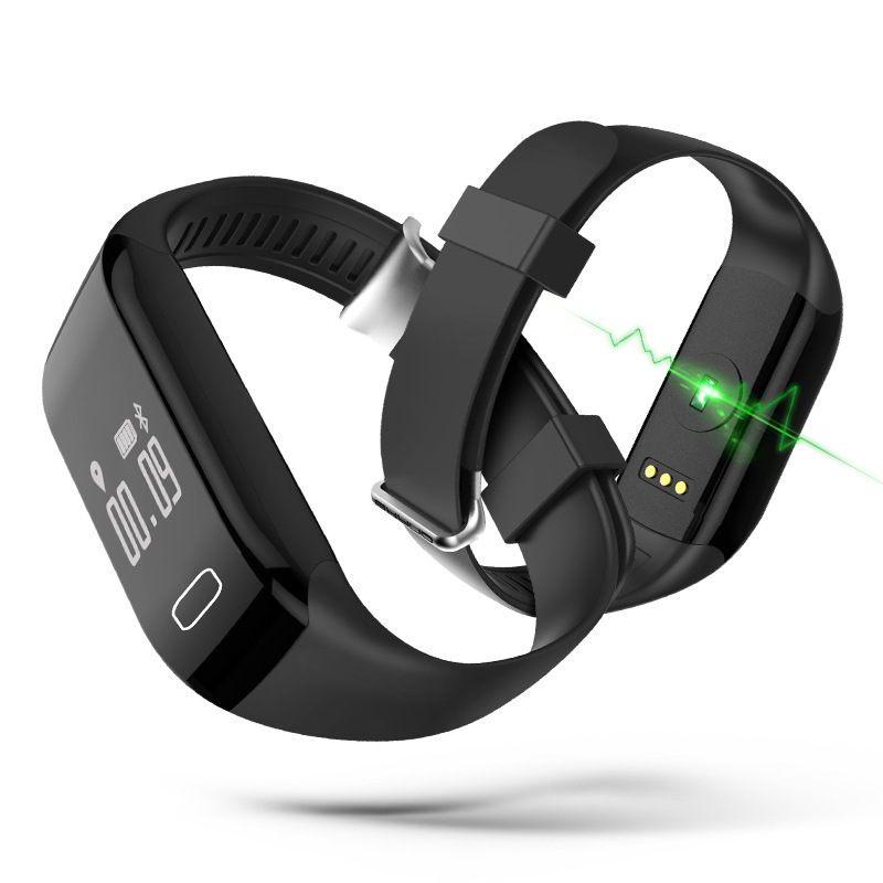 Vibrating Alarm Bracelet Heart Rate Monitor Smart Wristband Fitness Tracker Band USB for iPhone 7 Xiaomi