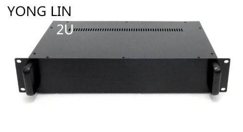 1pcs HTPC CHASSIS 2U chassis 19 inch case data switch box Chassis power communication server chassis