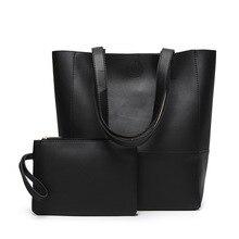 Miyahouse Patchwork Solid Color Shoulder Bag For Women 2PCS/SET PU Leather Handbag Female Large Capacity Shoulder Bag Lady