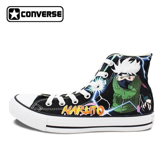 converse womens shoes. kakashi syaringan naruto converse chuck taylor men women shoes hand painted man woman sneakers cosplay womens