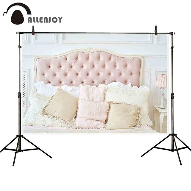 Allenjoy photography background boudoir pink tufted headboard backdrop photobooth photocall photo studio shoot prop fabric