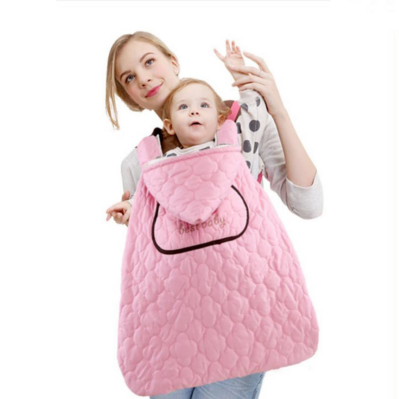 Baby Strap Cloak Spring And Autumn Winter Baby Outdoor Cloak Children Carrier Cover Blanket Thickened Warm Stroller Cover Sleepi