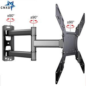 """Image 1 - Soporte de pared de TV giratorio inclinable para Monitor de pantalla plana LED de 26 50 """", VESA 400x400 con brazo de extensión articulado de movimiento completo"""