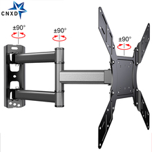 "TV Wall Mount Swivel Tilt Bracket for 26 50"" LED Flat Screen Monitor VESA 400x400 with Full Motion Articulating Extension Arm"