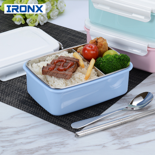 IRONX lunch box japanese stainless steel Lunchbox bento box food container for kid Picnic travel container