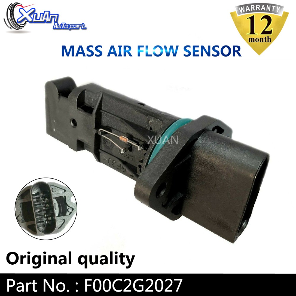 Mass Air Flow Sensor Meter For VW FORD SEAT SKODA AUDI F00C2G2027 F 00C 2G2 027
