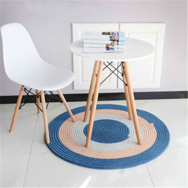 Round Rugs And Carpets For Home Living Room Tapis Rond Area Rug Alfombras Jute Carpet Kids Room Doormat For Entrance Door Sale