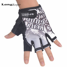 LongKeeper Classic Sports Gloves Semi-finger Outdoor Mittens Very Good Letters Fingerless Gloves Gym Men Women Work Out Guantes