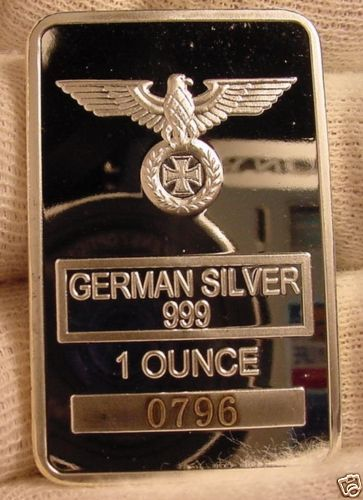 Deutsche Bank German Silver Clad Art Bar Mint Laser Number