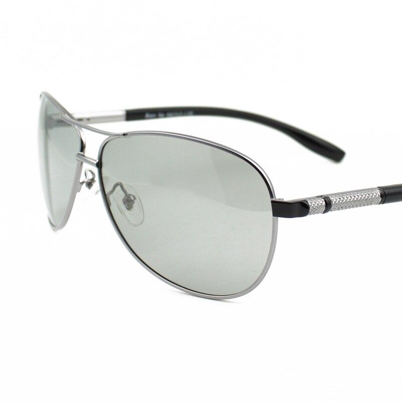 Vazrobe Photochromic Polarized Sunglasses for Men Driving Oversized Sun Glasses Chameleon Man Aviation Light Grey Lens UV400