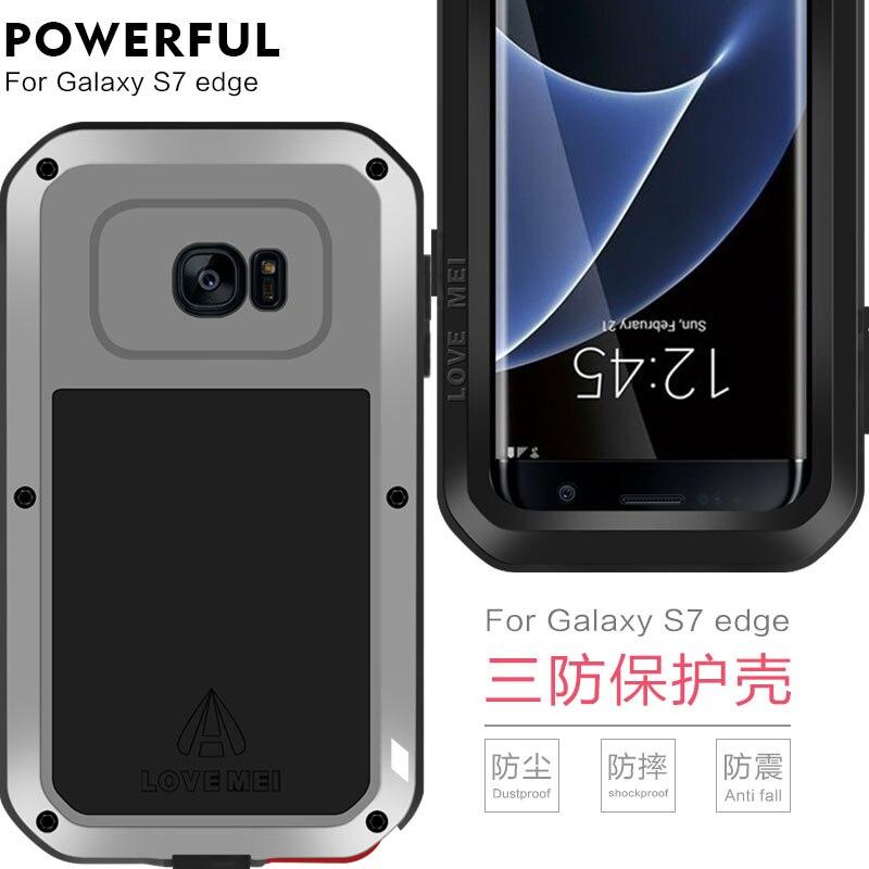 Blindé Hybride Housse Étui Étanche Fundas Logement Eau/Saleté/Choc/Anti-Pluie Pour Samsung GalaxyS7 S7 Cas De Bord - 4