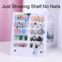 1PC Nail Holder Showing Shelf Display Stand Acrylic Crystal Holders False Nail Tip Salon DIY Manicure Tools