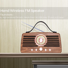 Retro radio wireless bluetooth speaker HIFI sound card USB portable subwoofer radio(China)