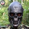 Oído-Terminator Cráneo de La Cara Llena Máscara protectora Airsoft Paintball para Cosplay Del Partido de Halloween CS Wargame Campo Juego Película Prop