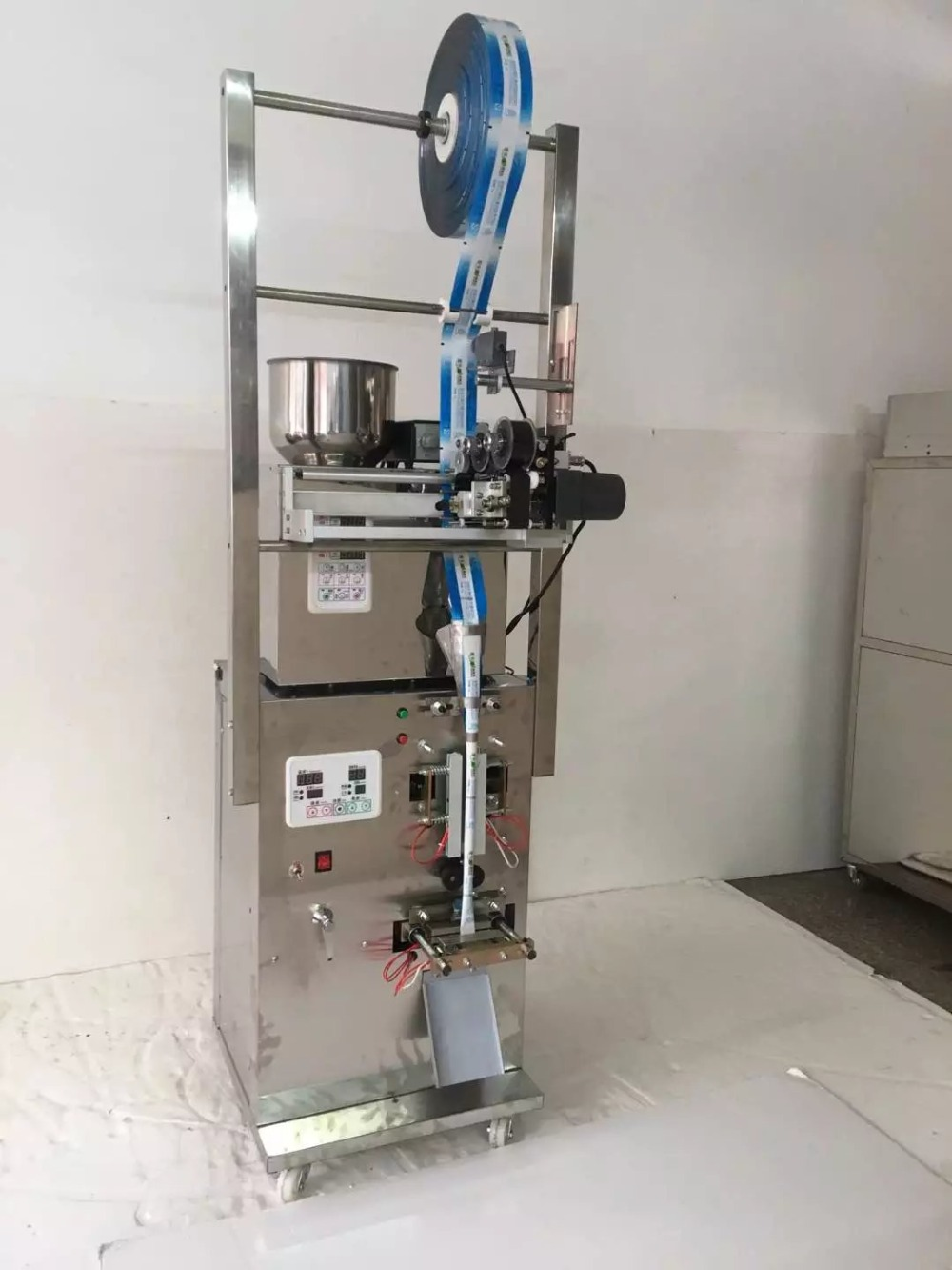 all stainless steel back side sealing packing machine with date coder one extra bag former
