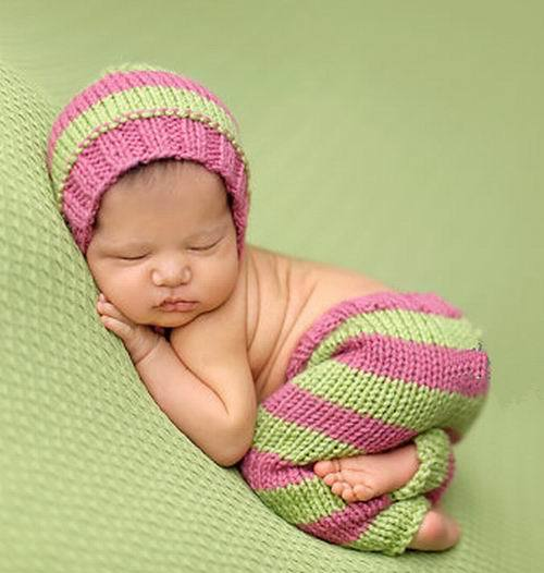 7af0ecafd47 Free Shipping Baby Crochet Hat Long Woolen Underwear Photo Props Colorful  Knitted Beanie Cap with Long Tail Handmade Hat Set