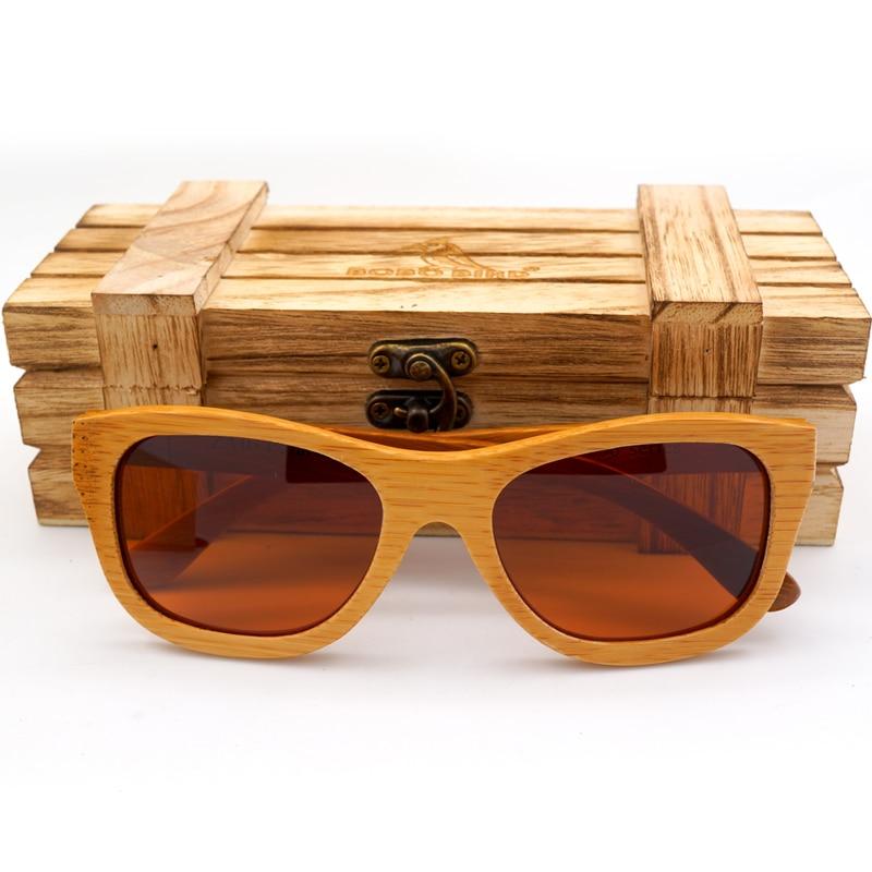 BOBO BIRD Hecho a mano Hombres mujeres Gafas de sol de madera Gafas - Accesorios para la ropa