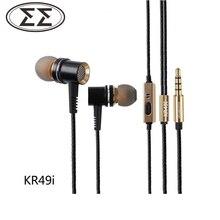 100% Original Boarseman KR49 En la Oreja los Auriculares de 3.5 MM Auriculares Dinámicos de Alta Fidelidad En la Oreja los Auriculares Para El Teléfono Pro En la Oreja
