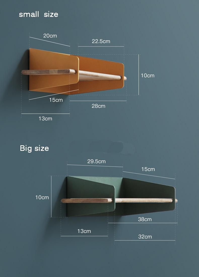 2019 Brief Wall Nordic Wall Decoration Magazine Storage Holders Racks wood Modern Design Hanger for corridor Rails bookrack - 2