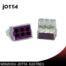 цена на 100PCS PCT-106 Push wire wiring connector For Junction box 6 pin conductor terminal block