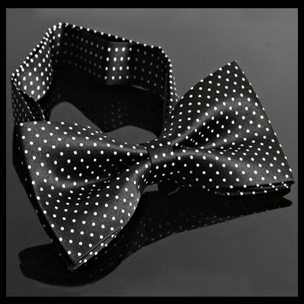 HOT  Men Imitation Silk Bow Tie Tuxedo Adjustable Neck Bowtie with Dot  1pc Retails Drop shipping Free Shipping