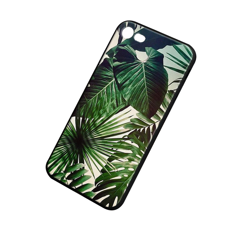 Palm tree Leaves pattern soft silicone Phone Case cover Shell For Apple iPhone 5 5S SE 6 6S 6Plus 6sPlus 7 7Plus 8 8Plus X case
