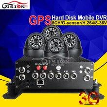 8ch жесткий диск мобильный видеорегистратор Наборы, 3G GPS в реальном времени сетевой автомобильный черный ящик с 4 шт. Камера Автомобильный видеорегистратор набор
