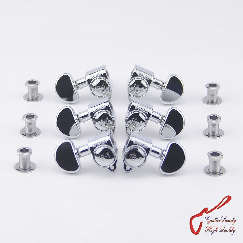 1Set  3R-3L Genuine Original Grover Guitar  Machine Heads Tuners 18-1 Series Chrome (without original packaging) savarez 510 cantiga series alliance cantiga normal high tension classical guitar strings full set 510arj