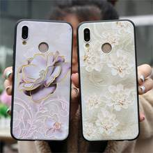 3D relieve flor TPU para Huawei Honor 8X 7A Pro P20 P30 P8 P9 P10 Mate 10 20 Lite Mini pro P inteligente 2019 Nova 2i 3 3i caso Fundas(China)