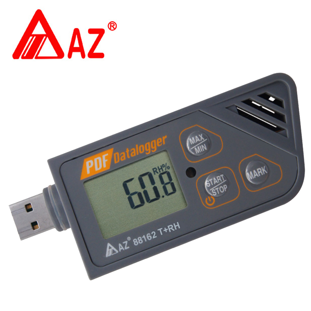 AZ88162 Digital USB Datalogger Humidity Temperature Logger Generate PDF & Excel Digital Datalogger Support Windows 7, 8 & 10 new usb temp temperature humidity datalogger data logger record meter 40 70c