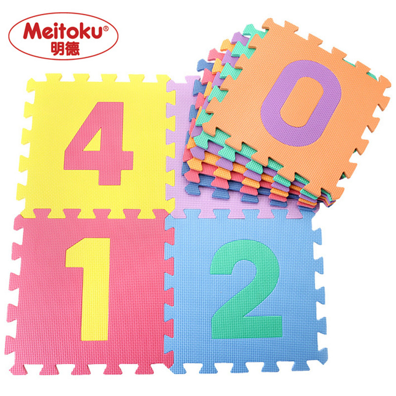 Meitoku-baby-EVA-foam-play-Puzzle-mat-Number-0-9-Interlocking-floor-matEach-30cmX30cmX1CM12-1