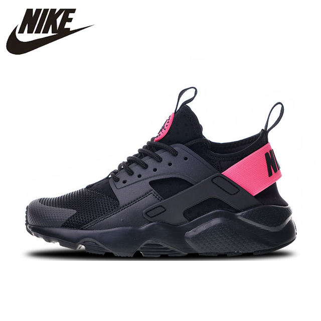 half off 1768b e545e Nike Air Huarache Run Ultra 4 Sneakers Sports Shoes Black Pink Running Shoes  For Men And Women 847568-003 36-44