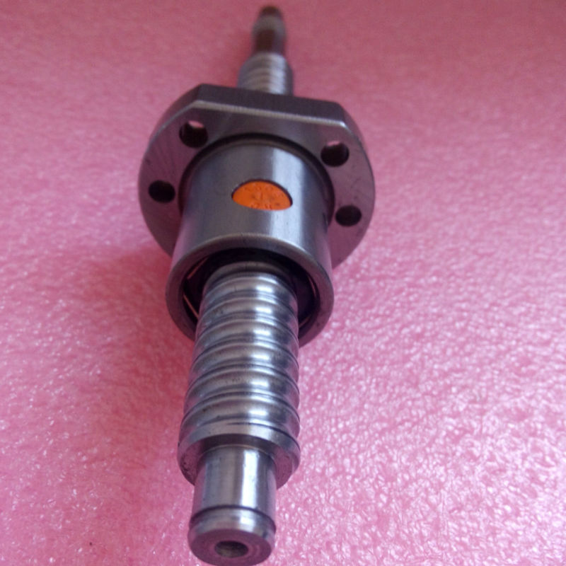 ФОТО SFU1605 1000mm ball screw C7 with 1605 flange single ball nut BK/BF12 end machined Woodworking Machinery Parts