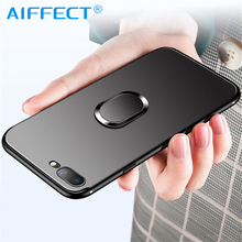 AIFFECT Phone Case For iPhone 6 6S 7 8 Plus XS Case For iPhone X 5 5S Se XS Xs Max XR Finger Ring Holder Phone Cover Coque цена
