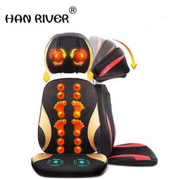 Cervical spine massager massage cushion body multi-purpose massage pillow chair cushion cushion for leaning on of household