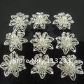 60PCS  Shining pearl crystal flower spiral hair sticks