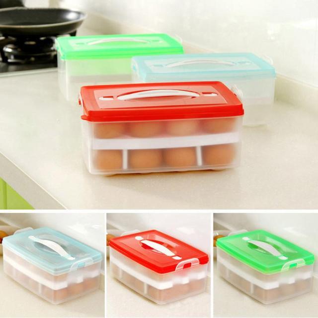 Refrigerator Storage 24 Eggs Airtight Storage plastic Box container