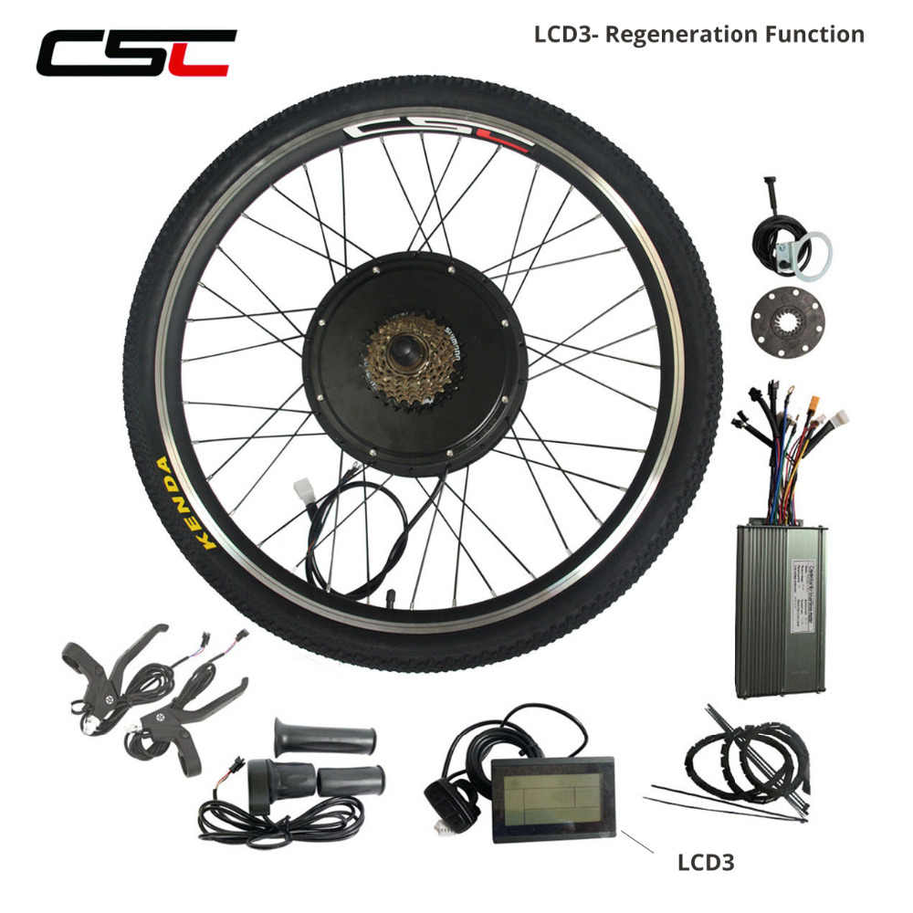 Electric Bike Conversion Kit 48V 1000W 1500W E Bicycle Hub Motor Wheel  20 24 26 27.5 28 29 inch 700C Regeneration Anti-charge