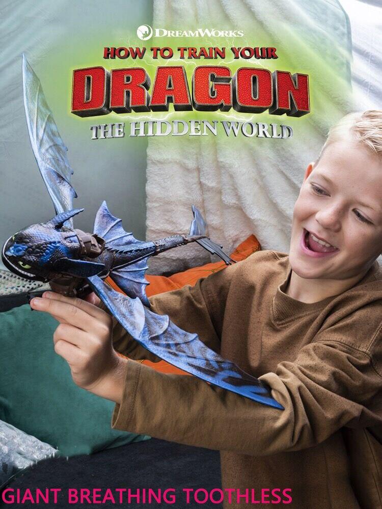 2019 Genuíno Como treinar O Seu Dragão 3 respiração gigante Desdentado figura de Ação Toyless Desdentado Brinquedo das Crianças do Presente de Aniversário