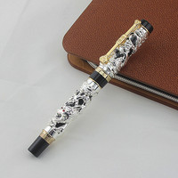 Jinhao Dragon and phoenix Calligraphy Fountain Pen Bent Nib, Descendants of The Dragon, Painting, Writing Office Supplies