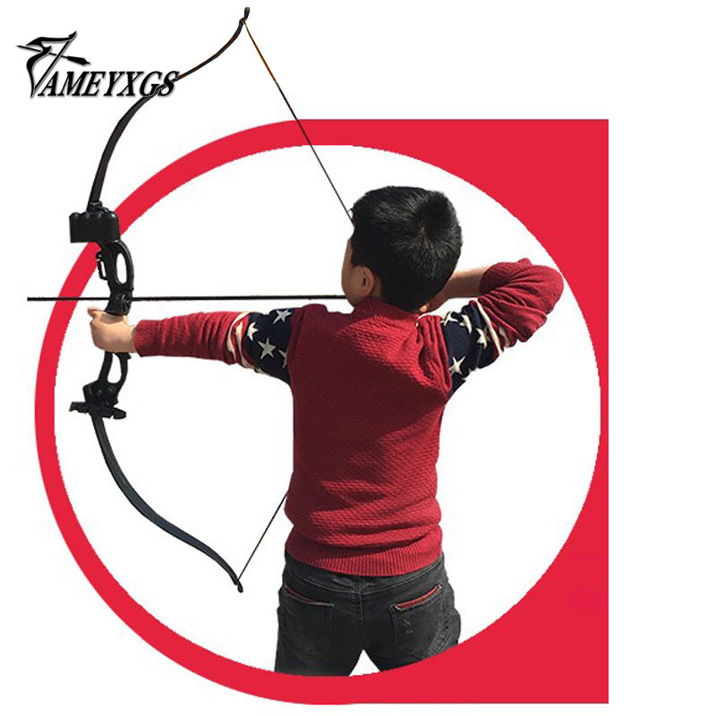 1 Set Youth Beginner Practicing Recurve Bow Low than 20lbs Take Down Bow Outdoor Archery Bow for Foam Arrow Tip 54 youth bow
