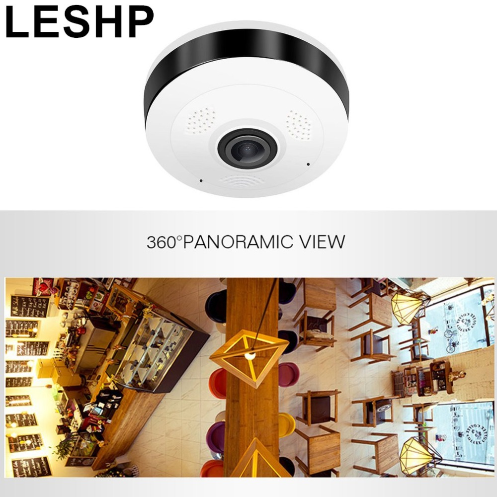 LESHP Professional 360 Degree VR Panorama Camera HD 960P Wireless WIFI IP Camera Home Indoor Security Surveillance Video Camera