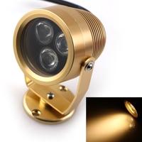 DC 12V 3 1W Warm White LED Underwater Lights IP68 Waterproof Underwater Lamp For Fountain Swimming