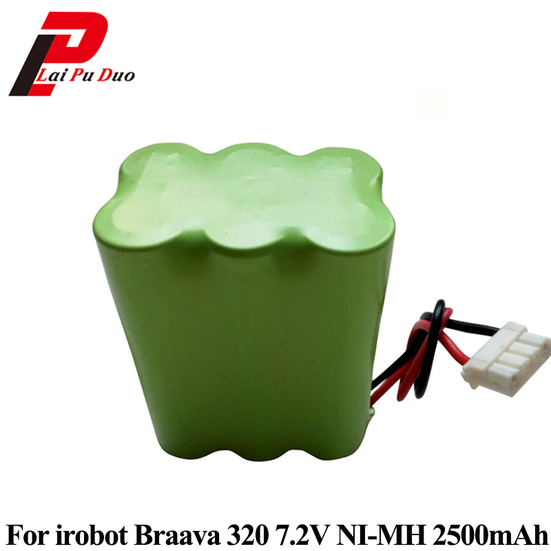 7.2V 2500mAh NI-MH Replacement <font><b>Battery</b></font> For Mint 4200 4205 For irobot Braava 320 <font><b>321</b></font> Vacuum Cleaner <font><b>Battery</b></font> Pack with PTC protect
