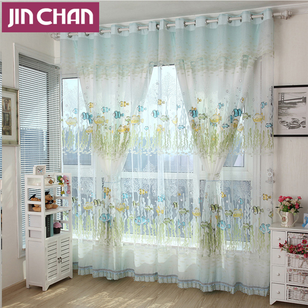 Fish curtains panels curtain menzilperde net for Fish curtains for windows