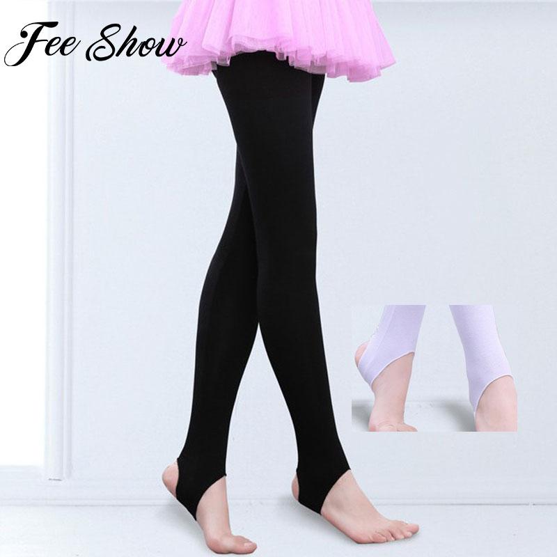 Kids Girls Stirrup Ballet Dance Stockings Leggings Tights for Yoga Gymnastics Ballet Dance Class Pant Unisex Stirrup Pantyhose
