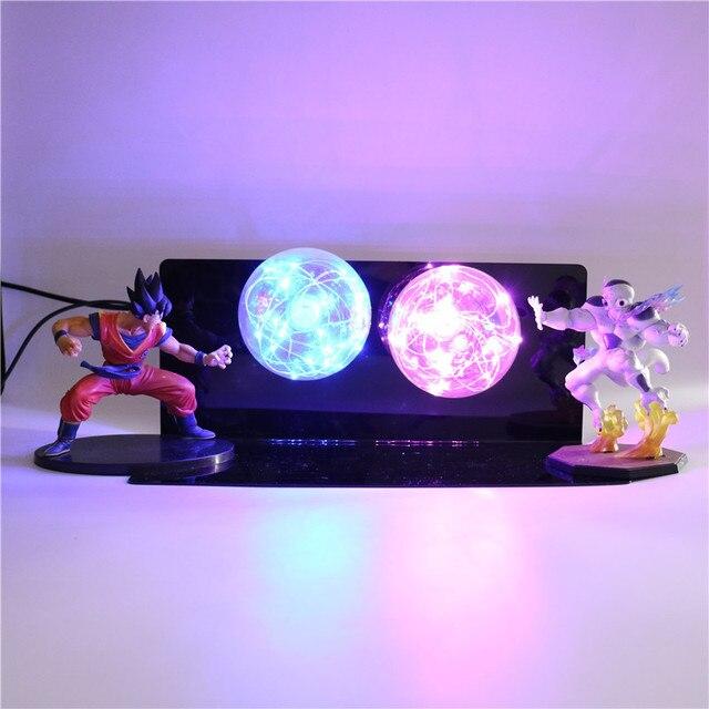 Anime Modelo Criativo LED para Crianças Caçoa Brinquedos Luz Da Noite Luzes Quarto DIY Baby Dolls Figuras de Ação De Dragon Ball Z lâmpada