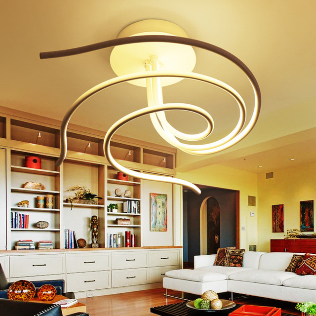 Led deckenleuchte plafond küche lampe wohnzimmer lichter moderne ...